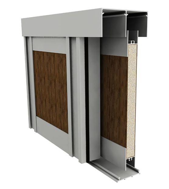 Frente placard sistema de carpinter a de aluminio fescap for Carpinterias de aluminio en argentina